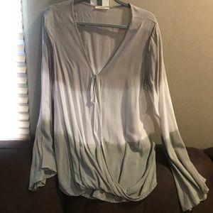 Gray wash blouse